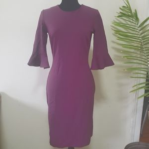 Banana Republic Plum bell sleeves dress
